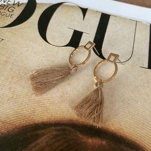 Tassle stud earrings